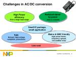 challenges in ac dc conversion