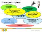 challenges in lighting
