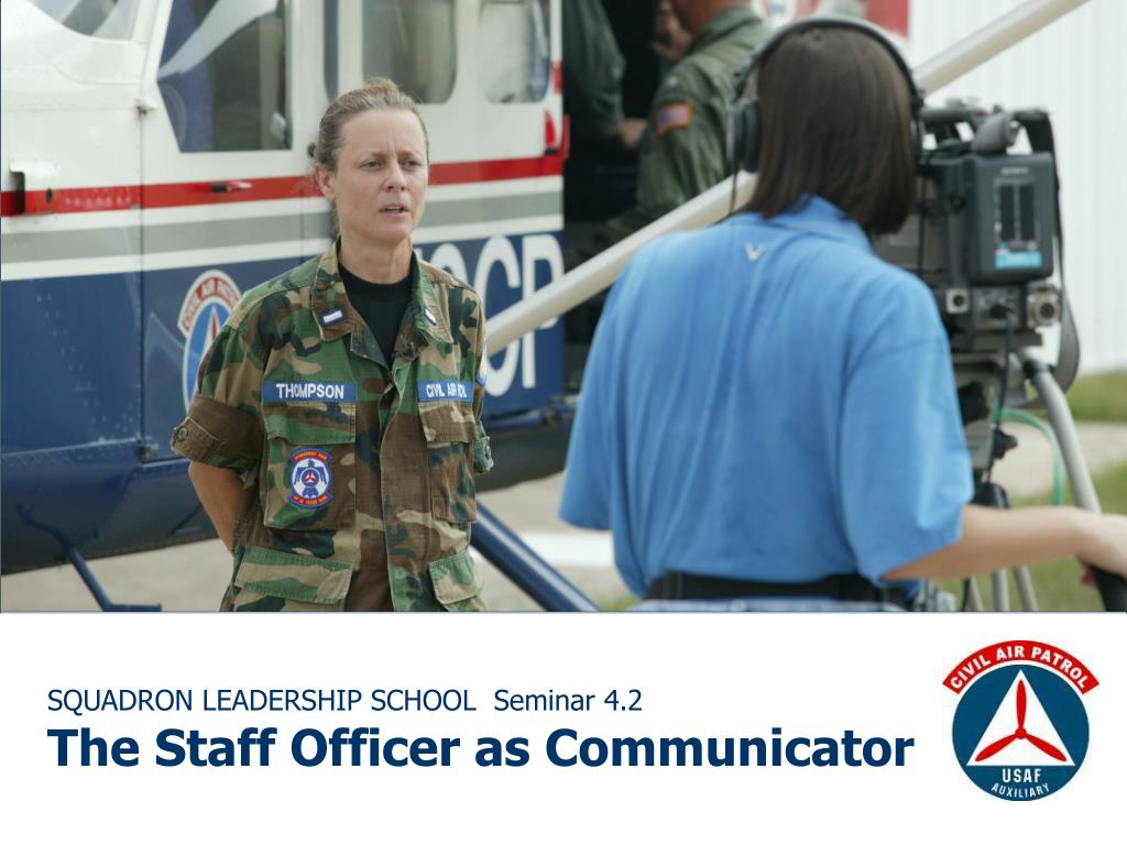 squadron leadership school seminar 4 2 the staff officer as communicator l.