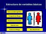 estructura de variables b sicas