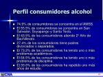 perfil consumidores alcohol