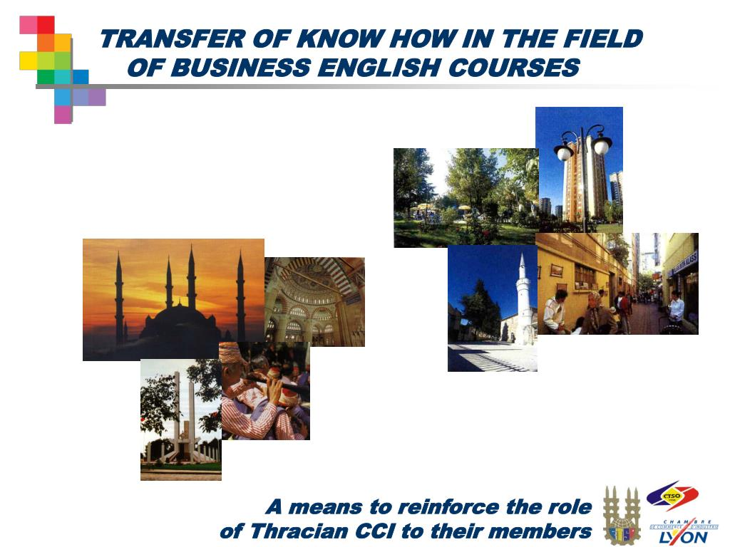 transfer of know how in the field of business english courses l.