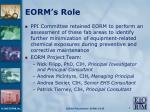 eorm s role