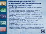 potential opportunities for improvement for semiconductor company consideration