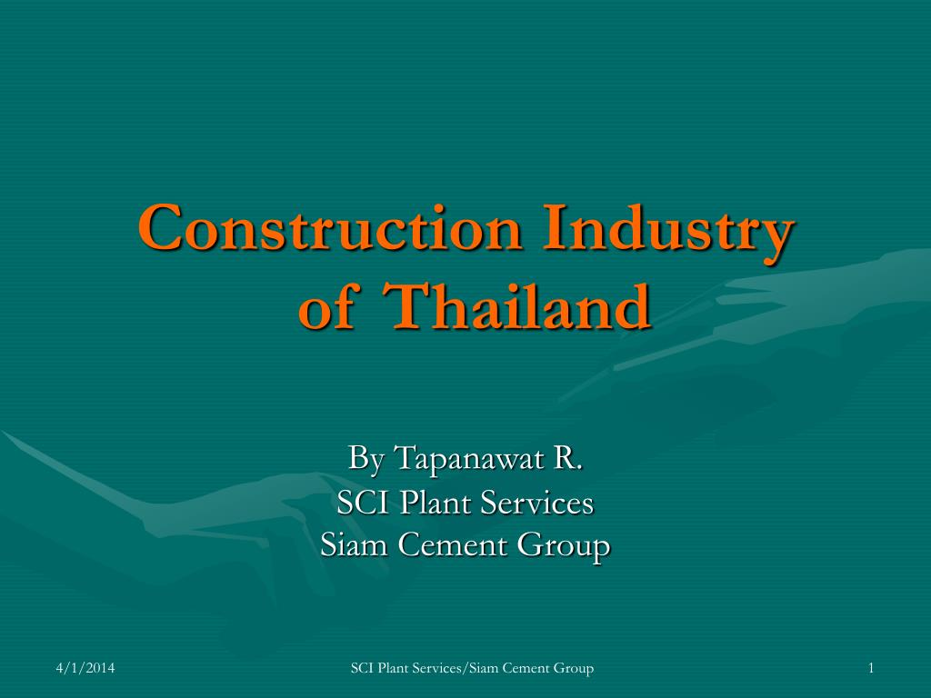 construction industry of thailand l.