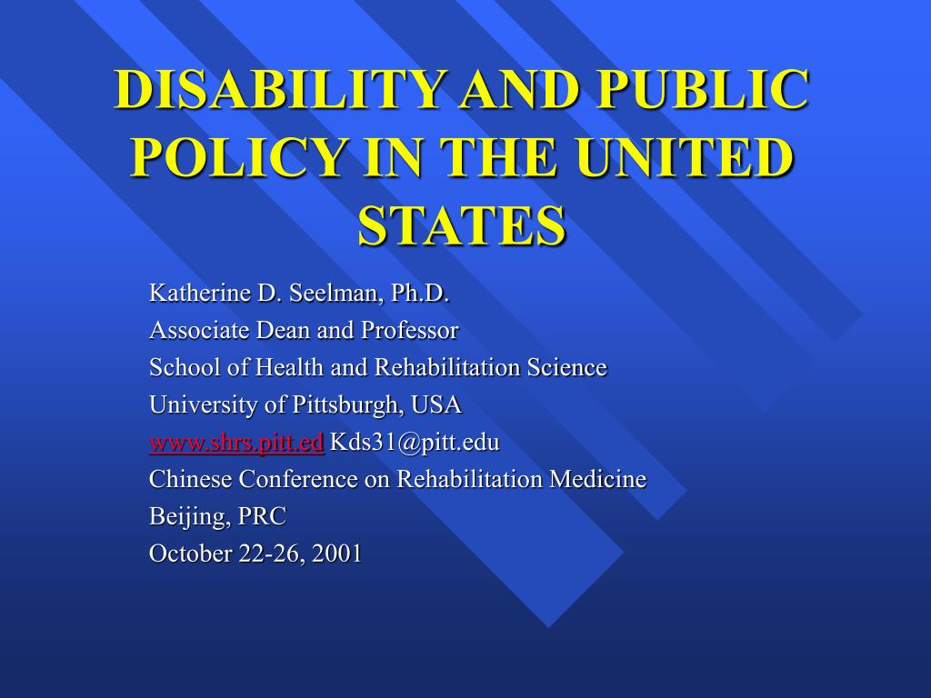 disability and public policy in the united states l.