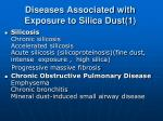 diseases associated with exposure to silica dust 1