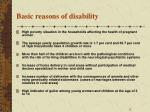 basic reasons of disability