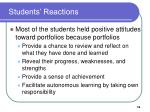 students reactions