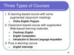 three types of courses
