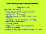 assessment of respiratory system cont
