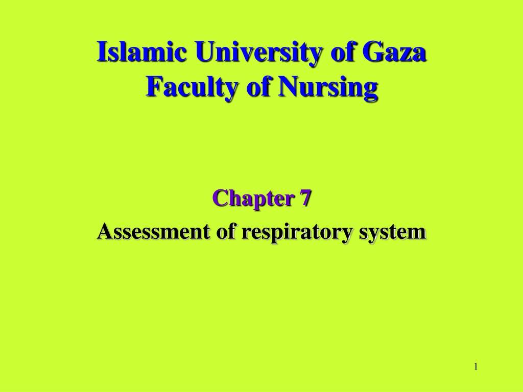islamic university of gaza faculty of nursing l.