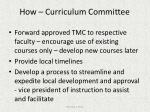 how curriculum committee