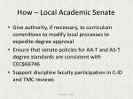 how local academic senate