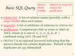 basic sql query