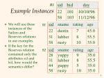 example instances