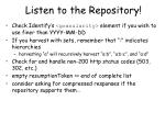 listen to the repository