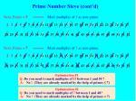 prime number sieve cont d