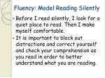 fluency model reading silently