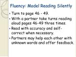 fluency model reading silently57