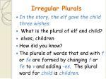 irregular plurals91