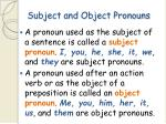 subject and object pronouns60
