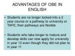 advantages of obe in english