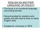english as another language or dialect