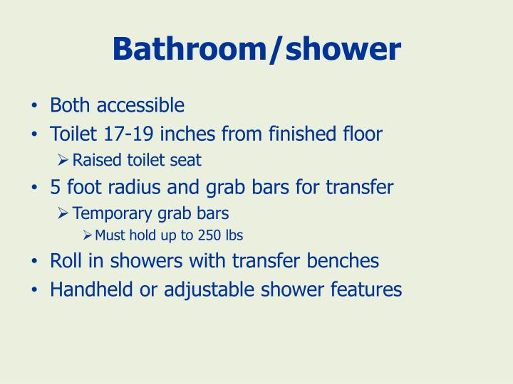 Bathroom/shower