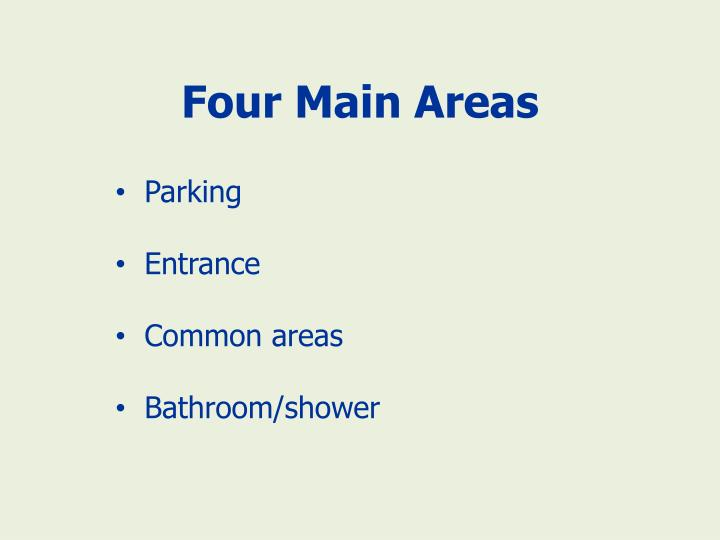 Four Main Areas