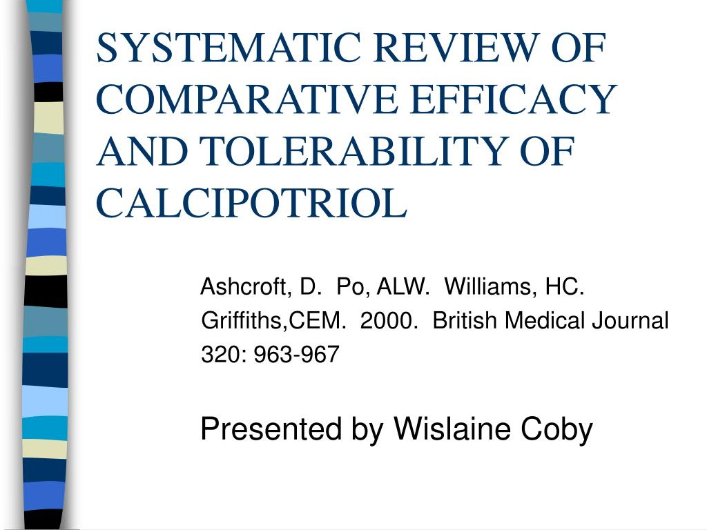 systematic review of comparative efficacy and tolerability of calcipotriol l.