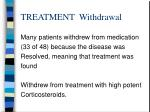 treatment withdrawal