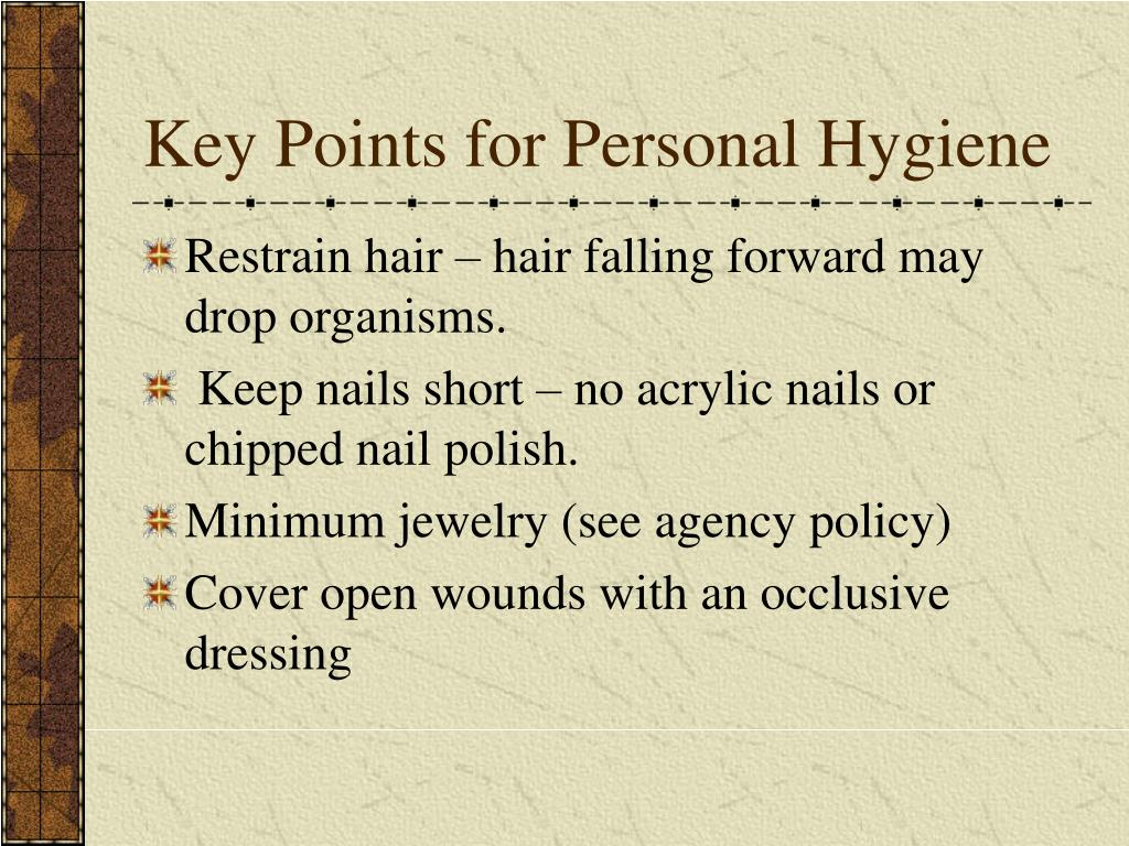 Key Points for Personal Hygiene