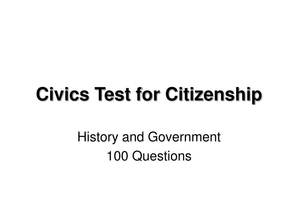 civics test for citizenship l.
