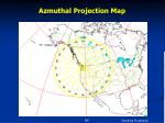azmuthal projection map