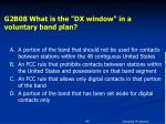 g2b08 what is the dx window in a voluntary band plan