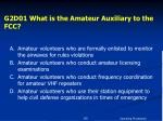 g2d01 what is the amateur auxiliary to the fcc