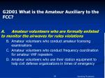 g2d01 what is the amateur auxiliary to the fcc1