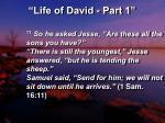 life of david part 114