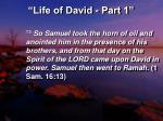 life of david part 116
