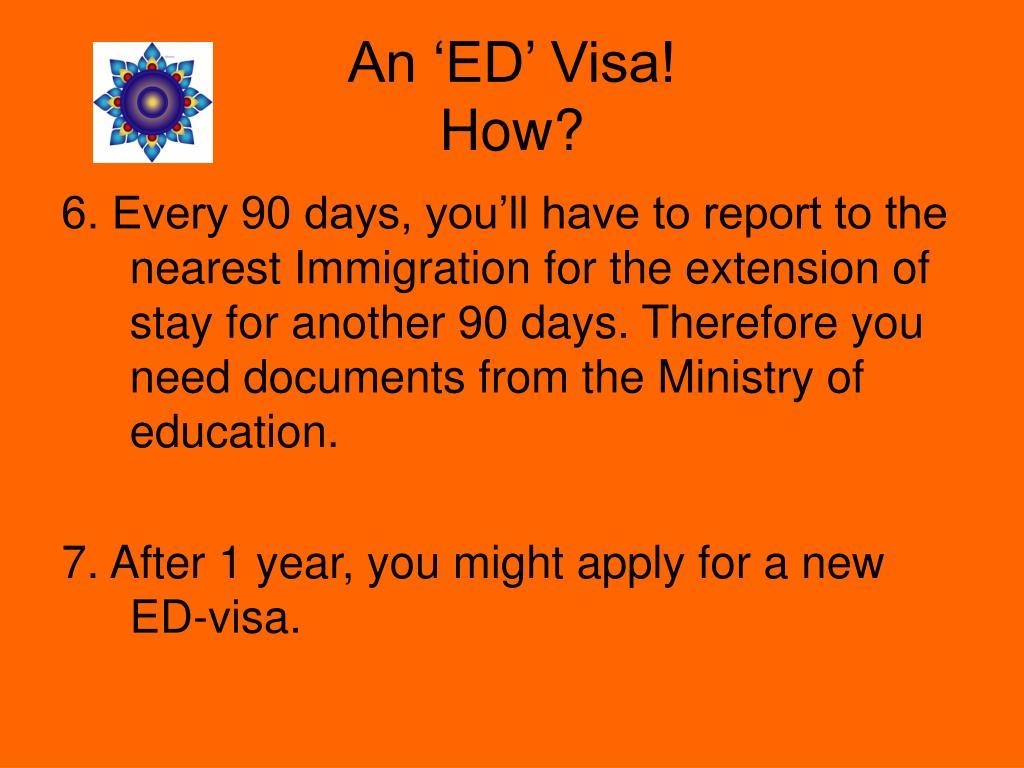 An 'ED' Visa!