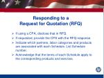 responding to a request for quotation rfq