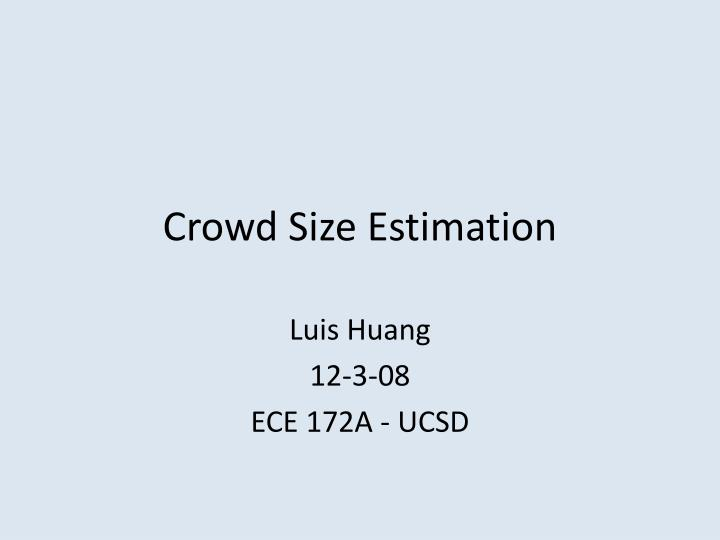 crowd size estimation n.