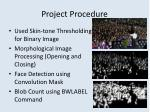 project procedure
