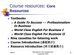 course resources core resources