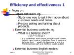 efficiency and effectiveness 1