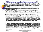 efficiency and effectiveness 2