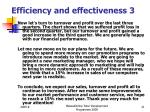efficiency and effectiveness 3