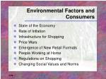 environmental factors and consumers