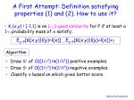 a first attempt definition satisfying properties 1 and 2 how to use it